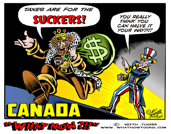 Tax Inversions, Fast Food, Burger King Tax Inversion, Boycott Burger King, Burger King, Tim Hortons, Burger King Petition, Burger King Boycott, Business News,political cartoons