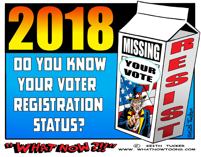 voter suppression, 2018 election, vote 2018, congressional elections 2018, midterm elections, political cartoons, Kris Kobach, Crosscheck, Trump illegal voter hunt, vote out GOP 2018, house of representatives 2018, vote theft, Electoral fraud,  The Best Democracy Money Can Buy, disenfranchised voters, what now toons, resist 2018, 2018 election